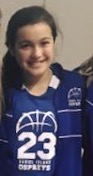 "MADDIE MOEHLMAN 7th grade girls ""Maddie led the DI 7th grade girls to victory this week. She led the team in scoring and created opportunities for her team mates."""
