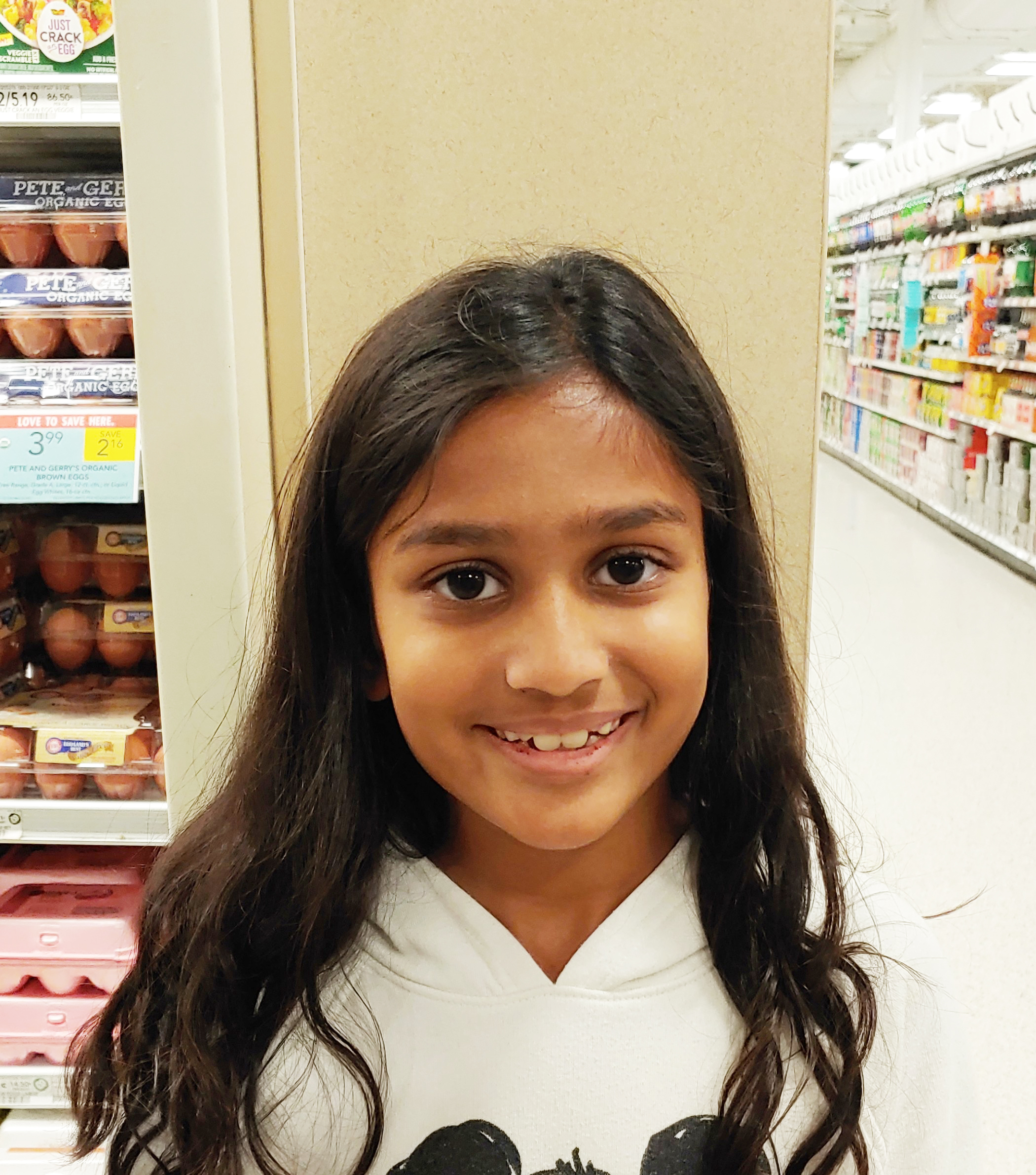 We eat turkey and play card games.  Maya, Age 9  Daniel Island