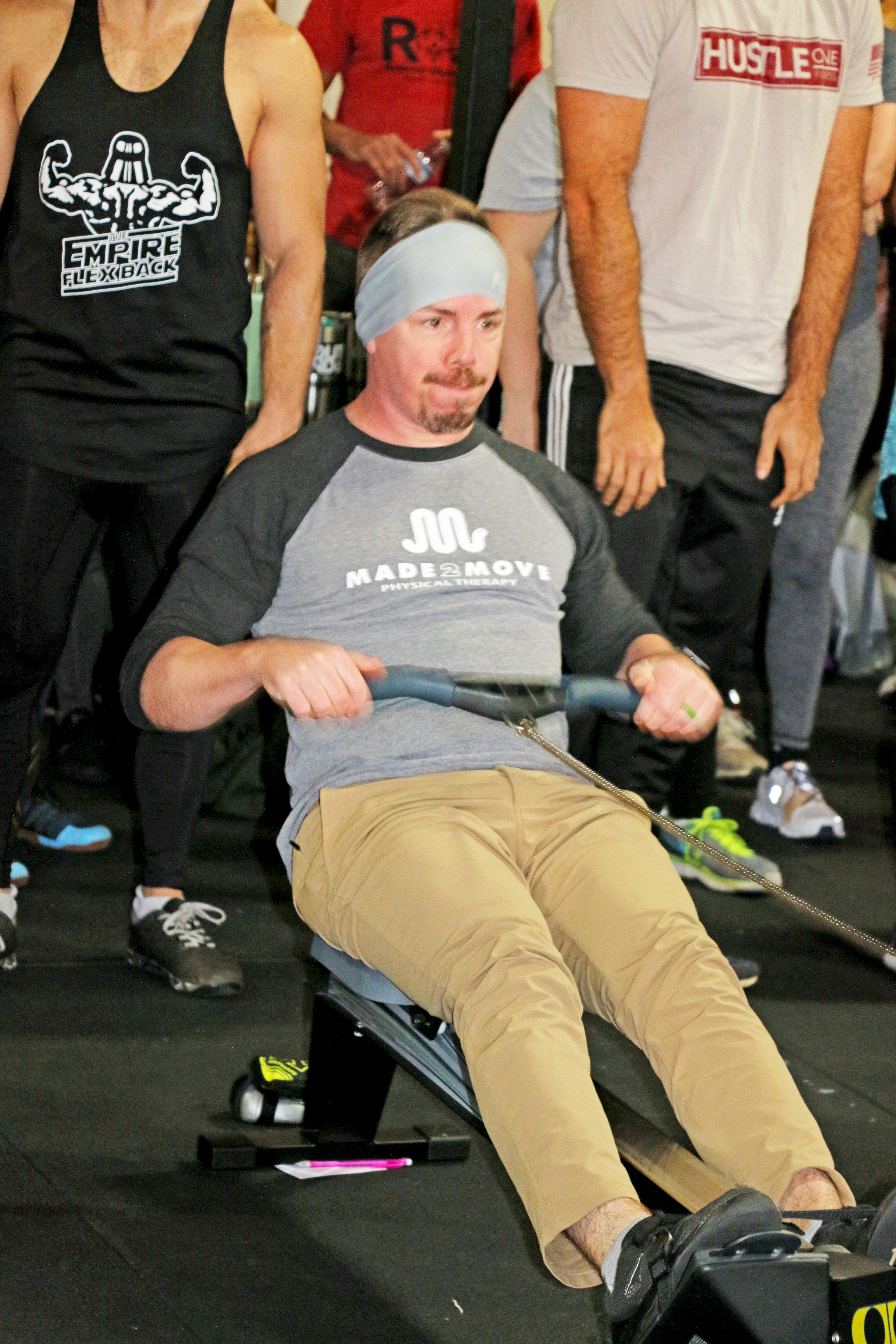 Made2Move athlete Dane Gifford helps row his team to a third place finish. Made2Move of Daniel Island was one of the event sponsors.