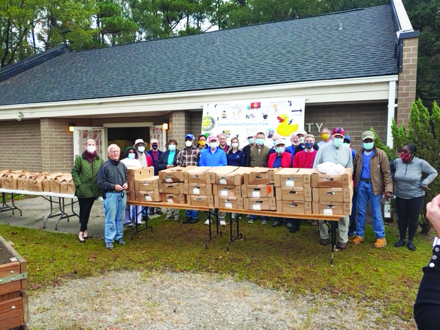 On Wednesday, Nov. 25, the day before Thanksgiving, Rotary Club members delivered 170 turkey dinners to local residents in need.