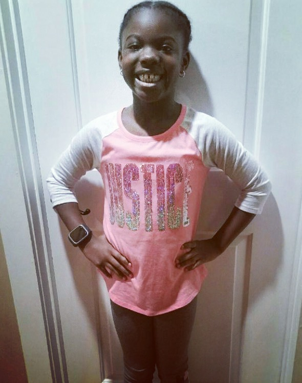 An excited Bailey Asby, a third grader at Philip Simmons Elementary, is ready for the new year!