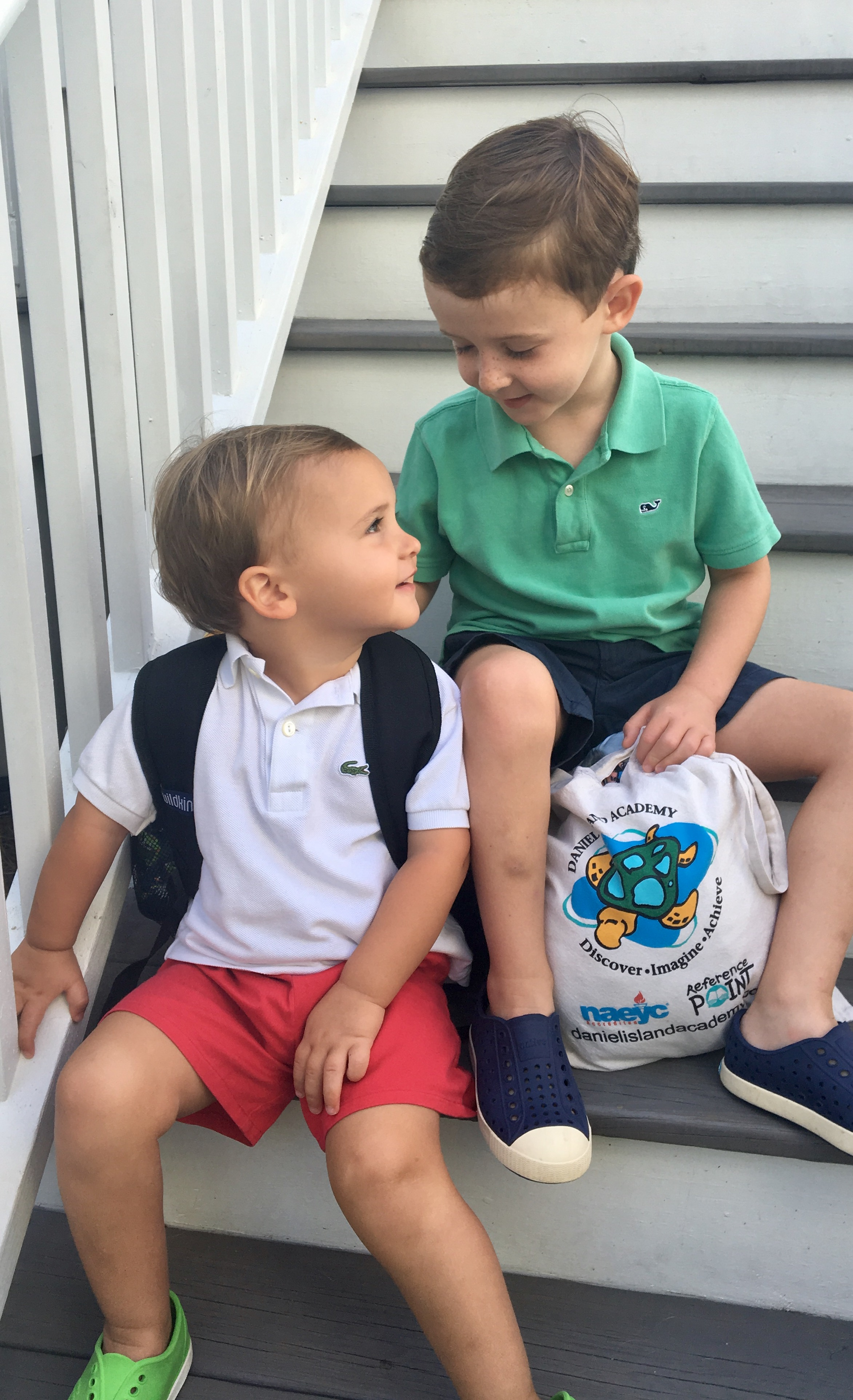 Bennett Delman, age 2, and his brother, Carter, 4, are both students at Daniel Island Academy.