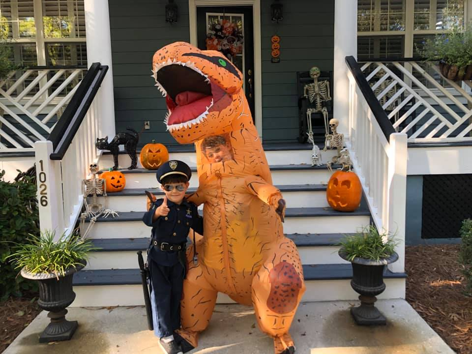 Will Heffernan (dinosaur) and Murphy Heffernan (police officer).