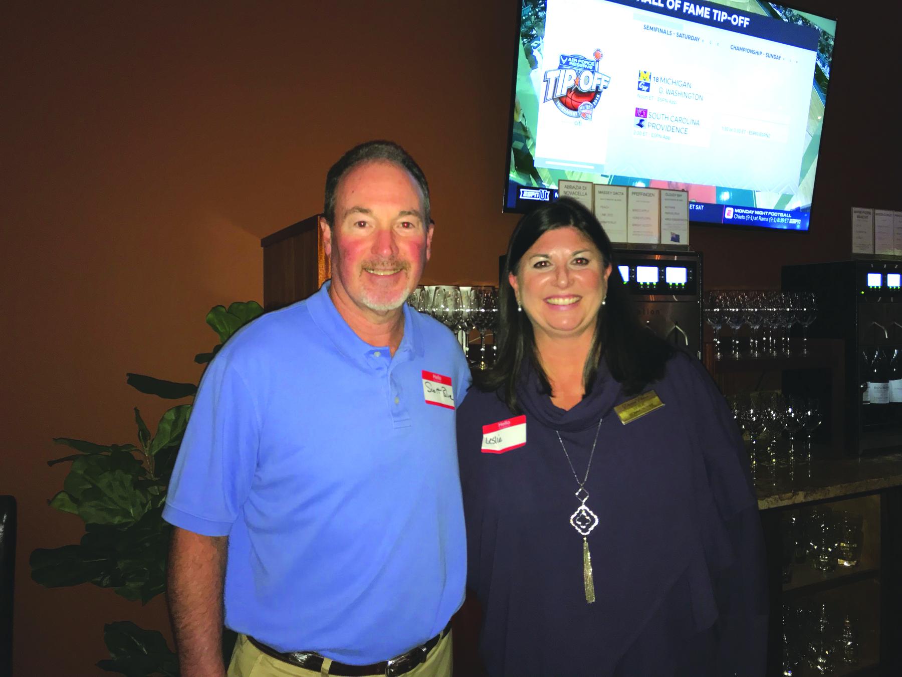 Scott Blue of Vail Travel/SC Federal and Leslie Sommerdyke of Daniel Pointe Resort.