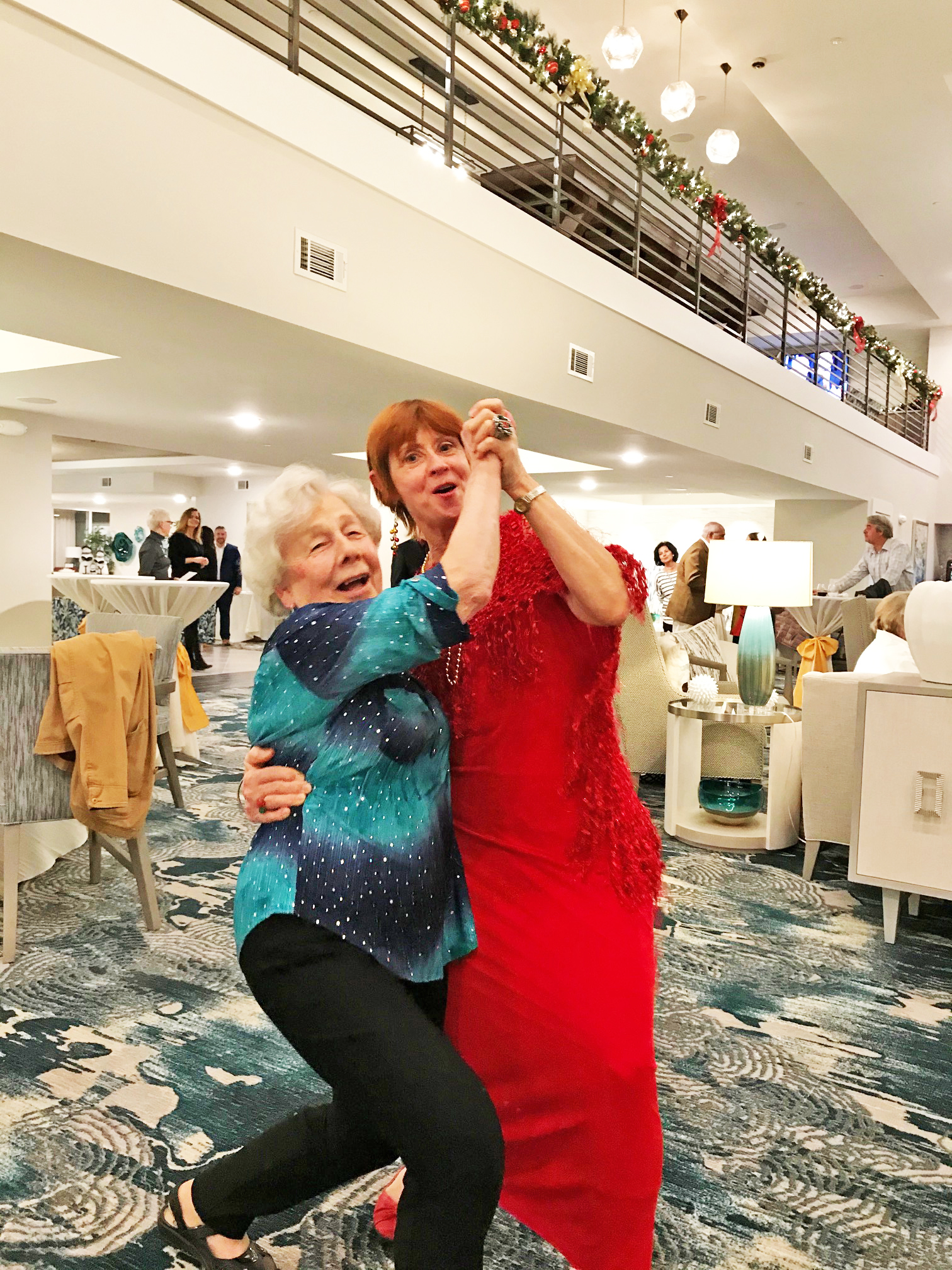Meet the dancing queens: Mary Koschoff and Barbara Groh.