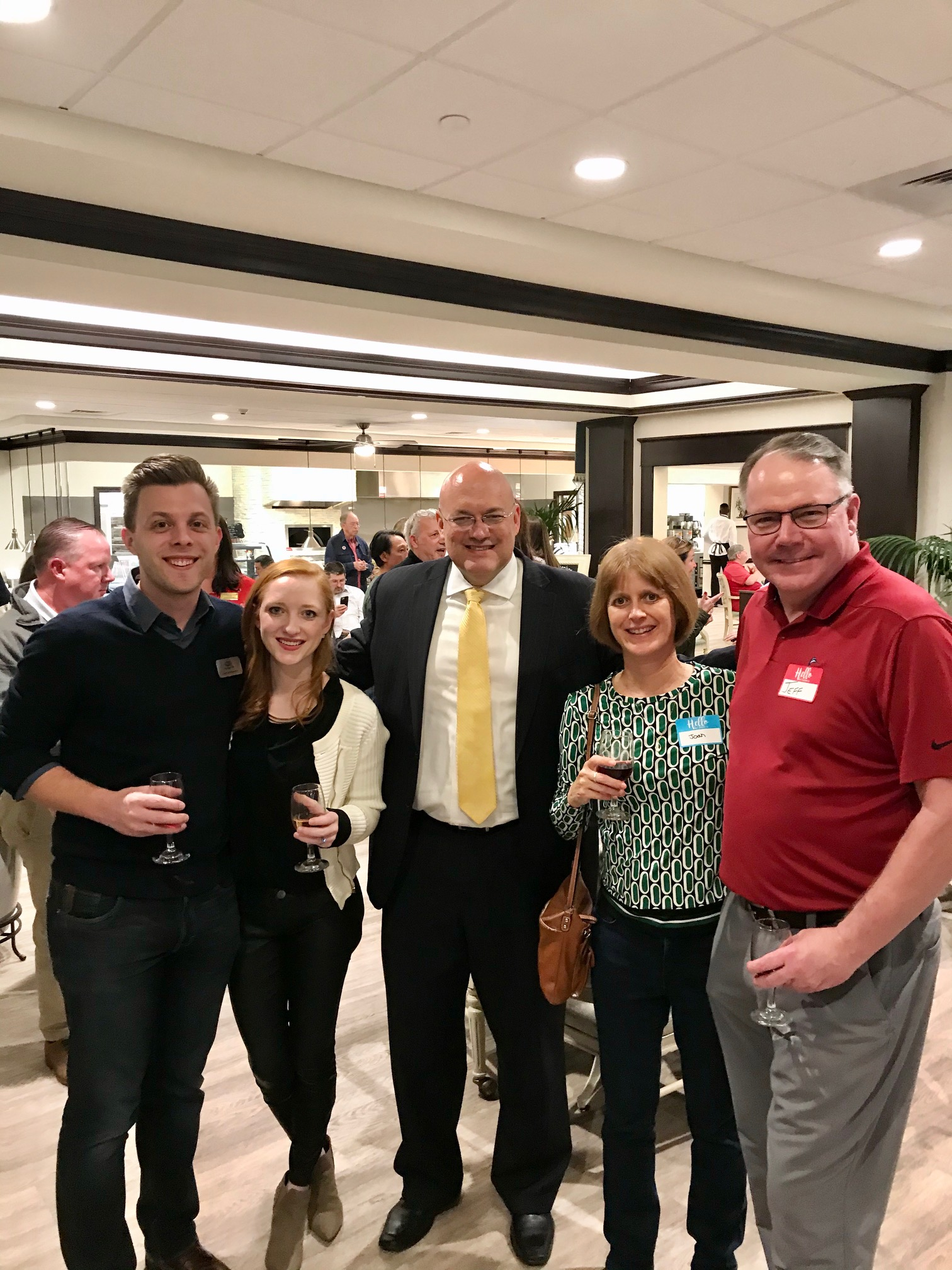 Networking with Josh Wurdemann and Dr. Rachel Wurdemann, Mark Smith, and Joan and Jeff Caldwell.