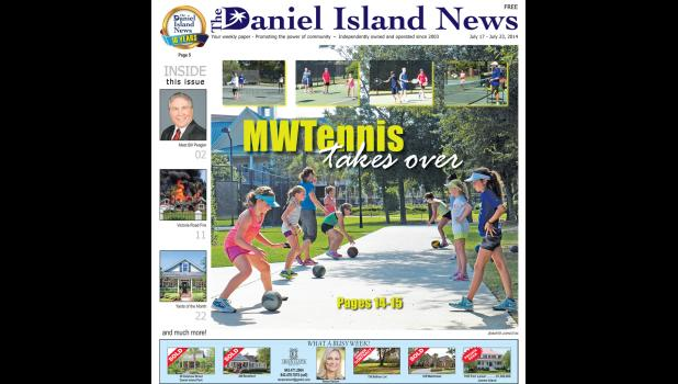 The cover of the July 17, 2014 edition showcased the MWTennis program.