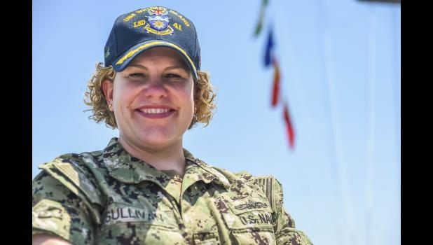 Commander Jean Marie Sullivan, whose parents live on Daniel Island, is currently serving on the U.S.S. Whidbey Island.