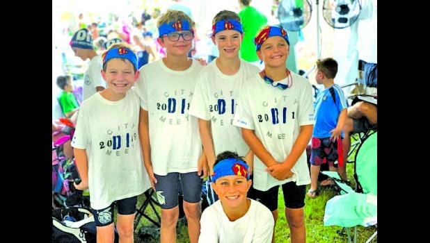 Among those competing in the boys' 9-10 age group were LJ LeVeen, Luc Ruminski, Connor Good, Brady Evin and Jackson Muller. The 200 free relay team of Good, Evin, LeVeen and Muller finished in second place and broke the existing record!