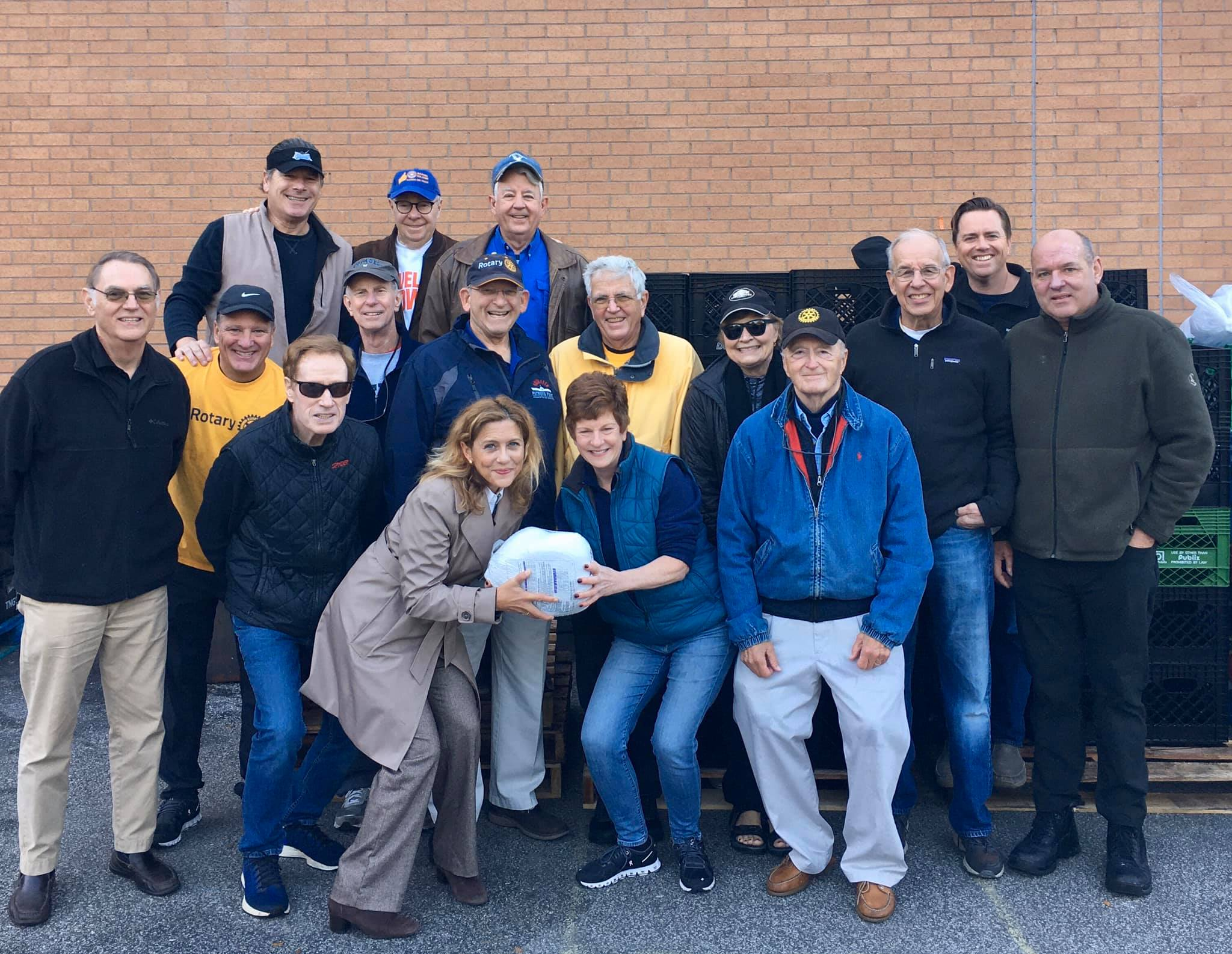 Members of the Rotary Club delivered 171 turkey meals for the Thanksgiving holiday.