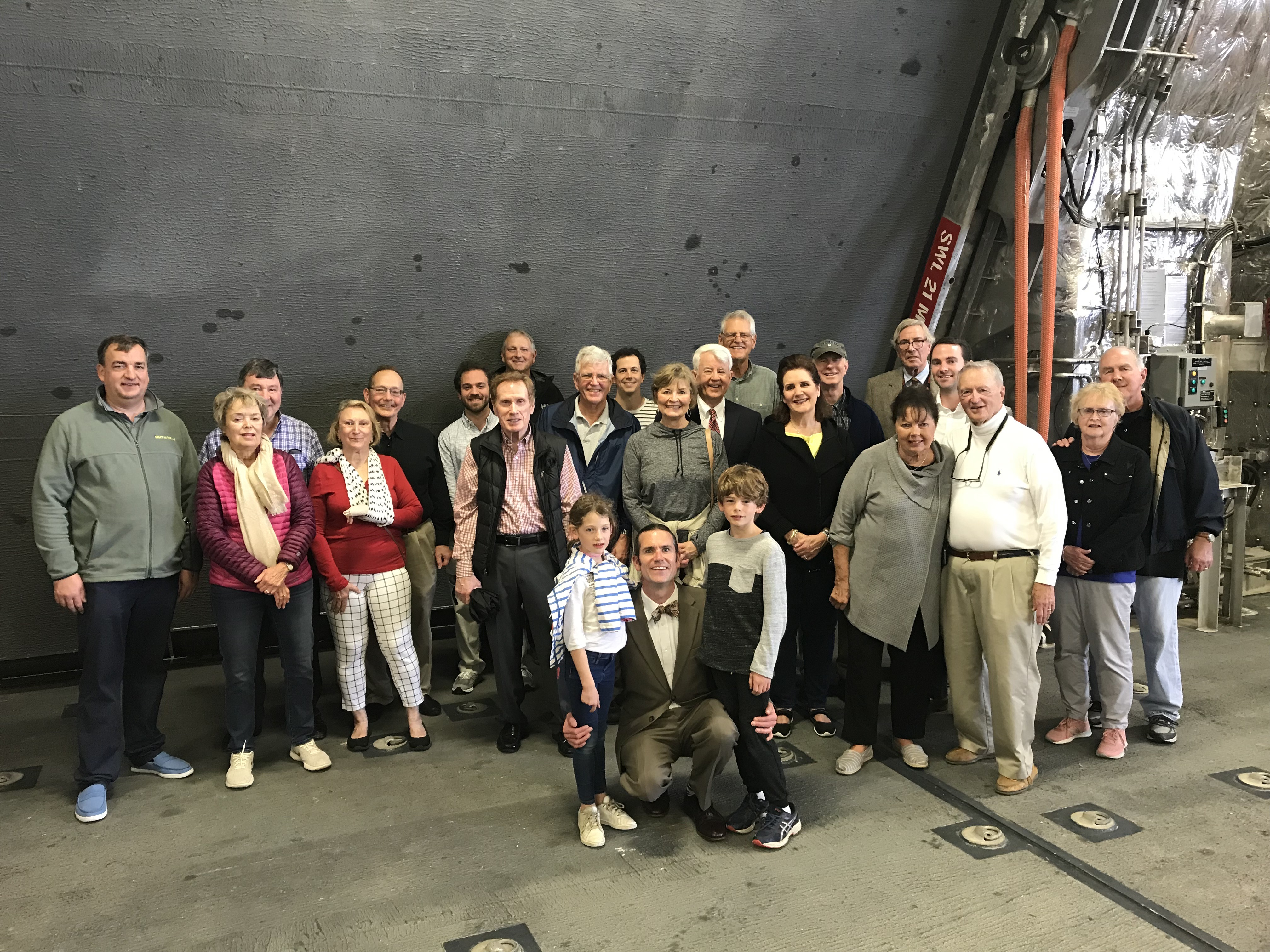 A group of Rotarians toured the U.S.S. Charleston late last month.