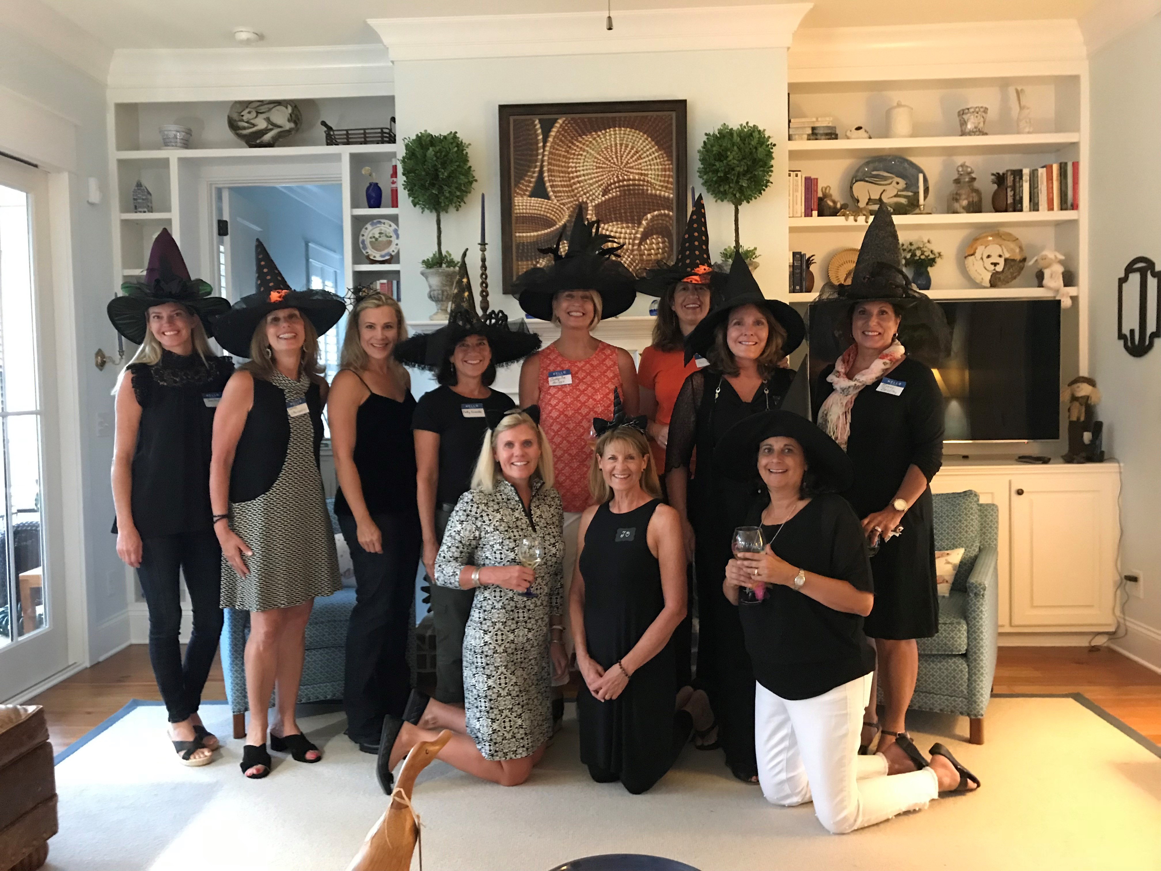 "The monthly Women Who Wine group had ""a great time and a nice turnout"" at their last event, according to Daniel Island resident Amy Justis, who hosted the group at her home on Oct. 9. Pictured above are members of the hostess team. Back row (left to right): Jennifer Ferm, Meryl Cromarty, Drue McGarty, Patty Evanko, Catherine Briggs, Amy Justis, Kimberly Roberts, and Susan Brinkley. Front row: Kameran Casey, Jo Rogers, and Beth Ranson. Not pictured: Ellen Underhill and Tami Perkinson."